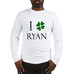 """""""I Heart/Luck Ryan"""" Long Sleeve T-Shirt"""