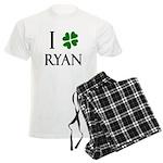"""I Heart/Luck Ryan"" Men's Light Pajamas"