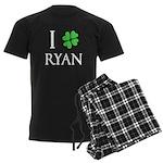 """I Heart/Luck Ryan"" Men's Dark Pajamas"
