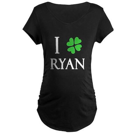 """I Heart/Luck Ryan"" Maternity Dark T-Shirt"