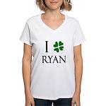 """""""I Heart/Luck Ryan"""" Women's V-Neck T-Shirt"""