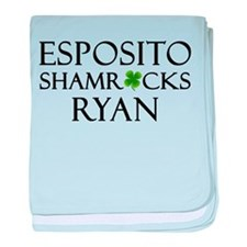 """""""Esposito Shamrocks Ryan"""" baby blanket"""