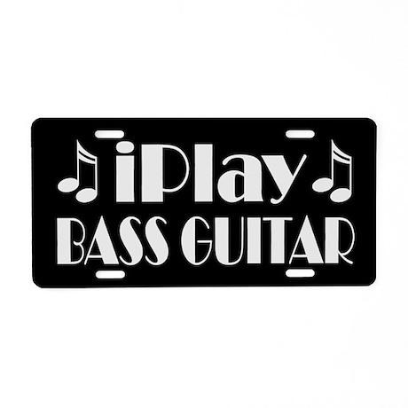 Bass Guitar iPlay Music License Plate