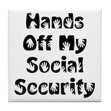 Social Security Tile Coaster