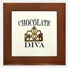 Chocolate Diva Framed Tile