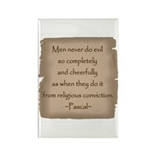 Pascal Quote Rectangle Magnet