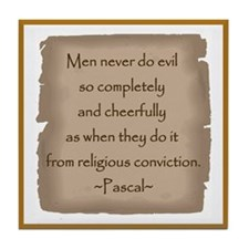 Pascal Quote Tile Coaster