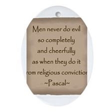 Pascal Quote Ornament (Oval)
