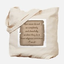 Pascal Quote Tote Bag