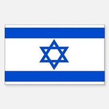 Israel Flag Rectangle Bumper Stickers