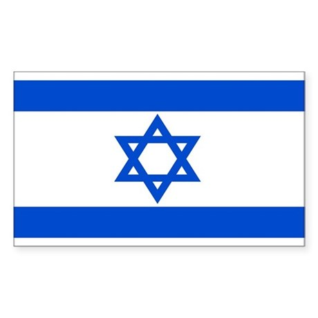 Israel Flag Rectangle Sticker