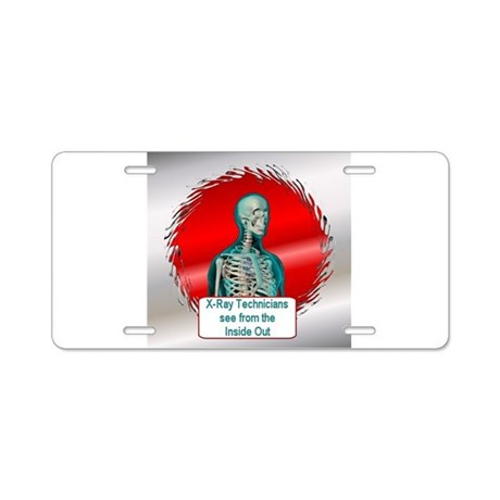 Radiologists Aluminum License Plate