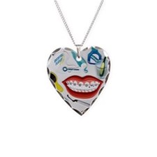 Dentist Jelly Beans Necklace Heart Charm