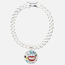 Dentist Jelly Beans Charm Bracelet, One Charm