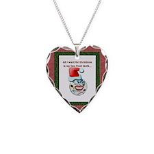 Dental Holidays Necklace Heart Charm