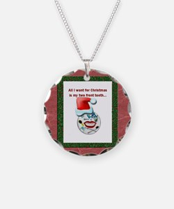 Dental Holidays Necklace Circle Charm