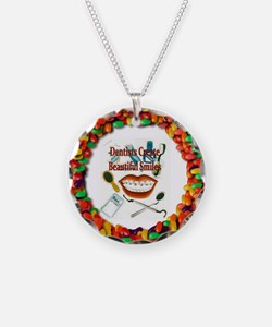 Cute Orthodontist Necklace Circle Charm