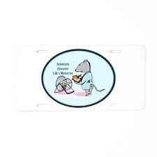Rat Scientist Aluminum License Plate