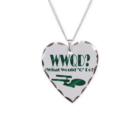 WWQD? Necklace Heart Charm