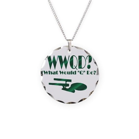 WWQD? Necklace Circle Charm