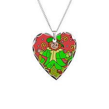Leprechaun Necklace Heart Charm