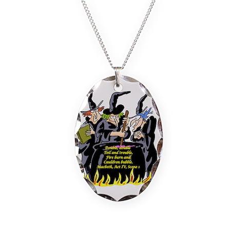 Macbeth1 Necklace Oval Charm