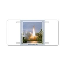 STS 122 Aluminum License Plate