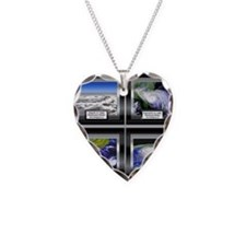 Hurricane Necklace Heart Charm