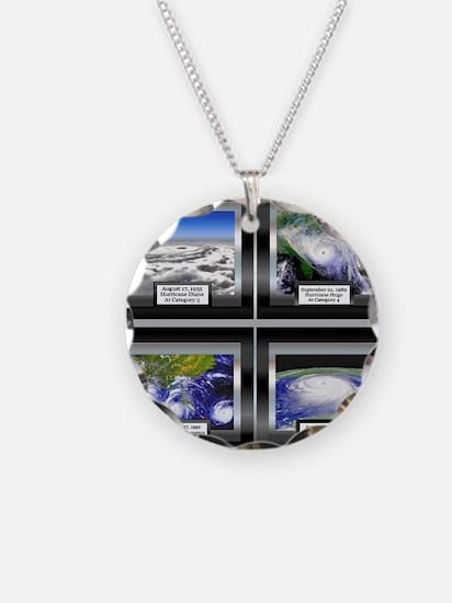Hurricane Necklace Circle Charm