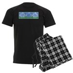 Golf Quotes Aaron Men's Dark Pajamas
