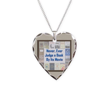Book vs. Movie Necklace Heart Charm