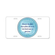 Cats in Heaven Aluminum License Plate