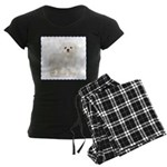 Maltese Puppy Women's Dark Pajamas
