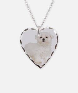 Maltese Puppy Necklace