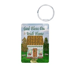 God Bless Our Irish Home Keychain