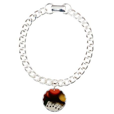 Poker Charm Bracelet, One Charm