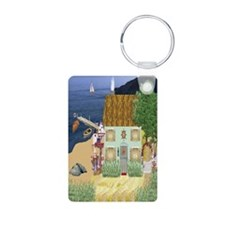 Cottage By the Lake Keychain