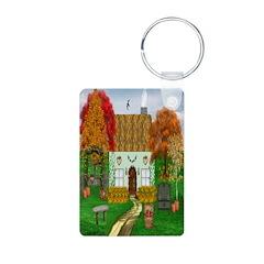 Autumn Cottage Keychain