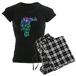 DotDinosaur Women's Dark Pajamas