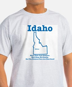 Idaho: Potatoes! Ash Grey T-Shirt