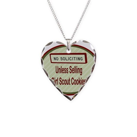 No Soliciting Necklace Heart Charm