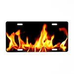 Fire! Aluminum License Plate