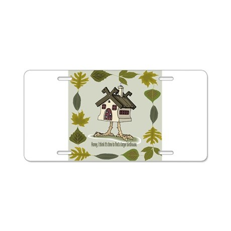 birdhouse Aluminum License Plate