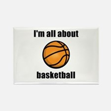 I'm All About Basketball! Rectangle Magnet