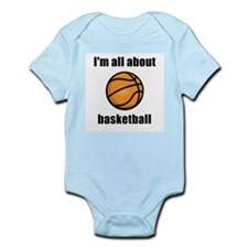 I'm All About Basketball! Infant Creeper