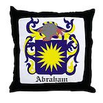 Abraham Coat of Arms Throw Pillow