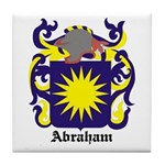 Abraham Coat of Arms Tile Coaster