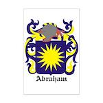 Abraham Coat of Arms Mini Poster Print