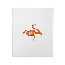 Cartoon Lizard Throw Blanket