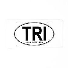 TRI (Triatlete) Euro Oval Aluminum License Plate